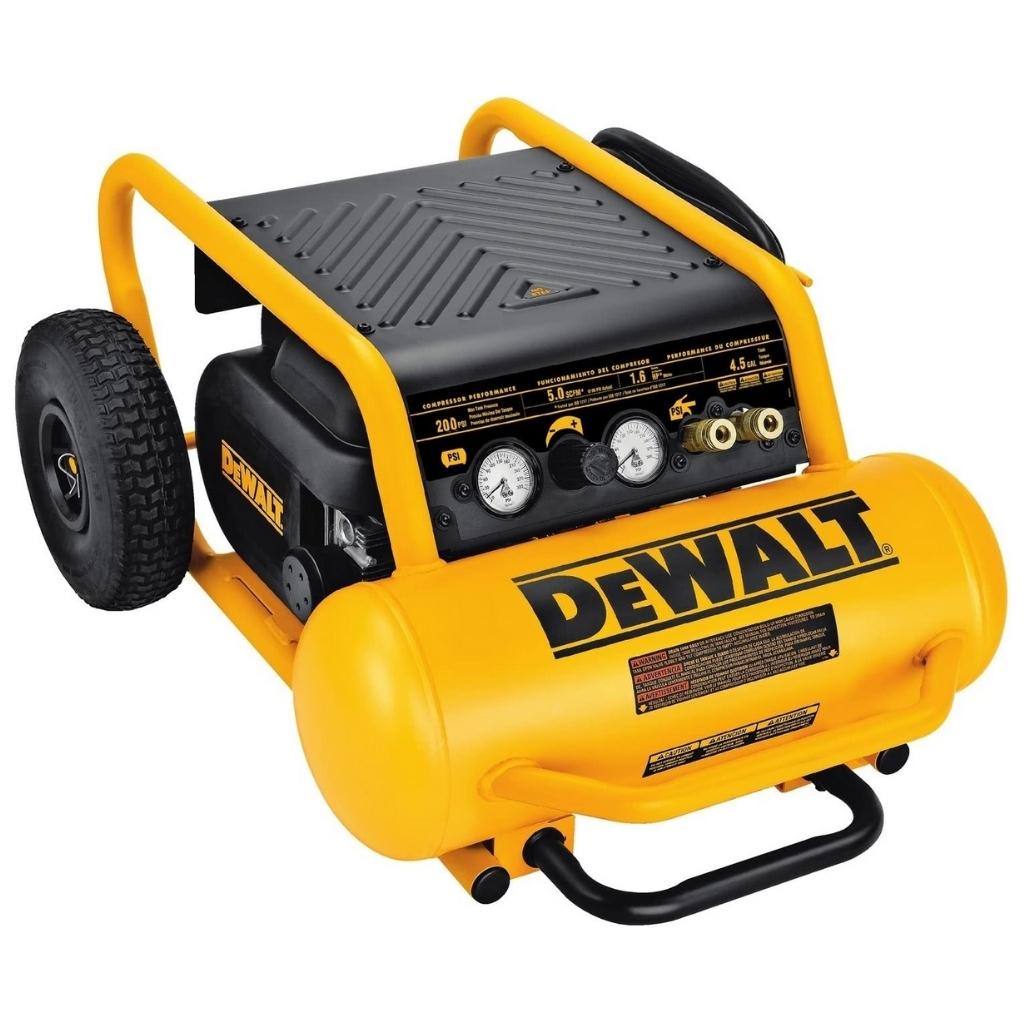 DEWALT Air Compressor 225-PSI Max Hand Carry with Wheels 4-1/2 Gallon (D55146)