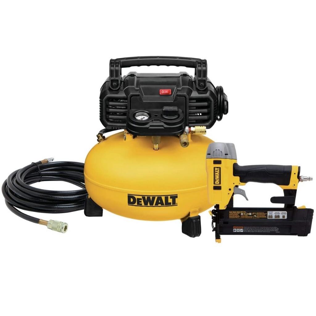 DEWALT Air Compressor Combo Kit with Brad Nailer DWC1KIT-B