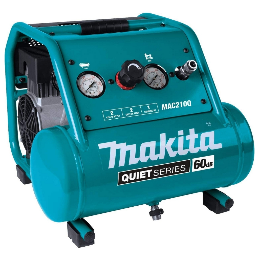 Makita MAC210Q Quiet Series 1 HP 2 Gallon Oil-Free Electric Air Compressor