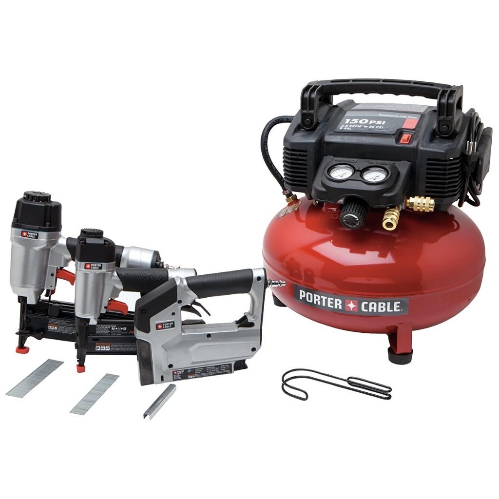 PORTER-CABLE Air Compressor Kit 6-Gallon 3-Tool (PCFP12234)