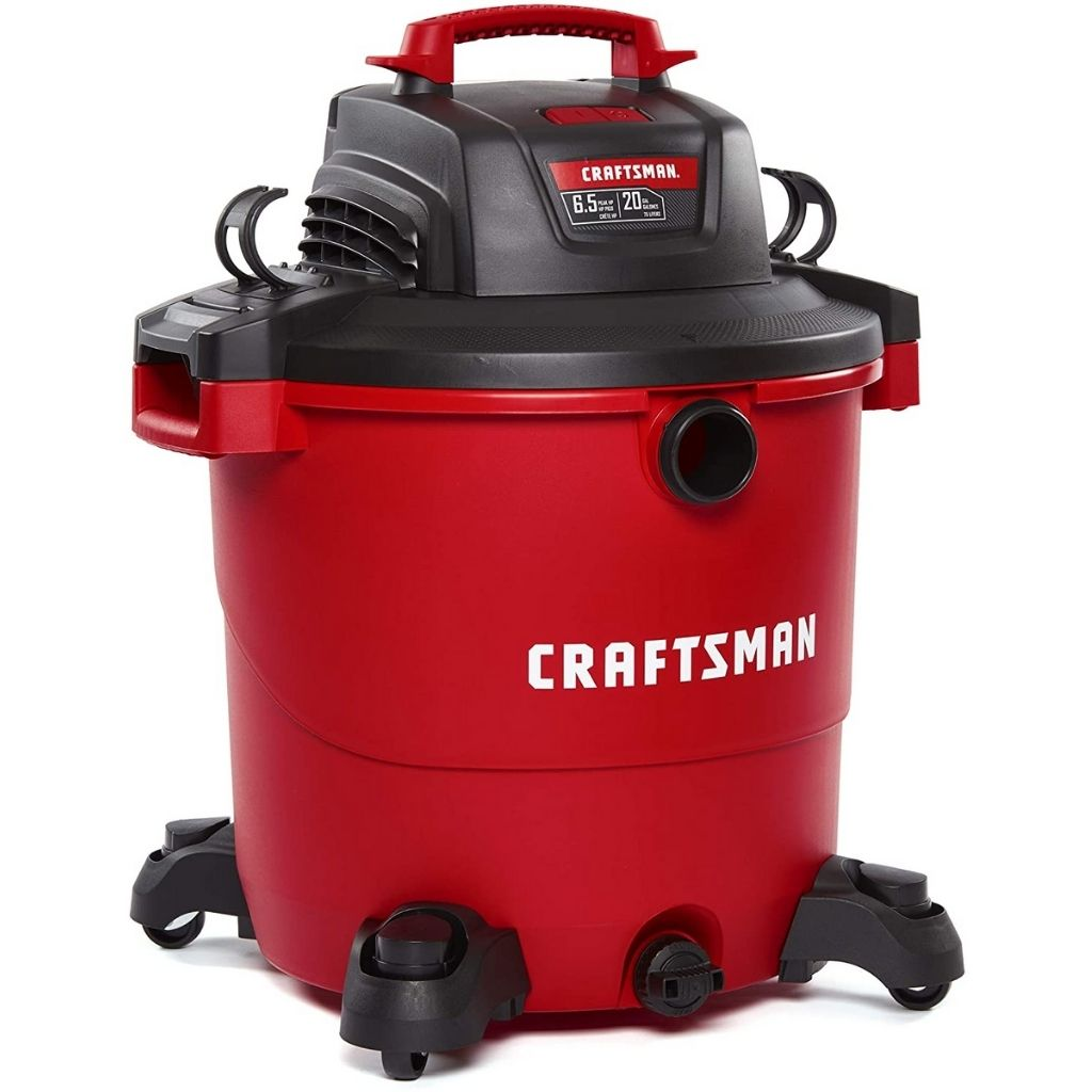 CRAFTSMAN CMXEVBE17596 20 Gallon 6.5 Peak HP Wet_Dry Vac, Heavy-Duty Shop Vacuum with Attachments
