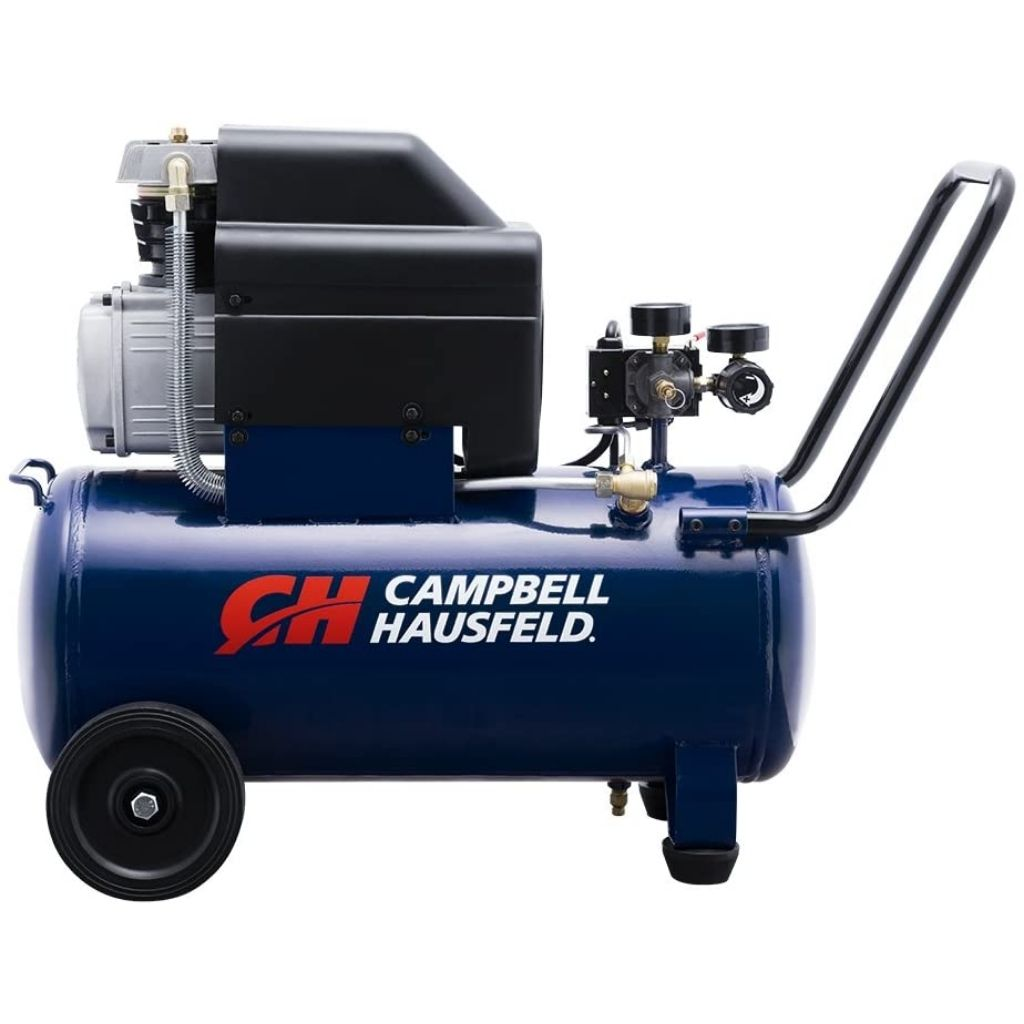 Campbell Hausfeld Air Compressor 8-Gallon Horizontal Oil-Lubricated 3.7CFM 1.3HP 120V 10A 1PH (HL540100AV)